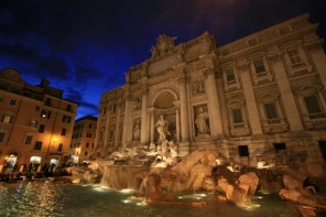 Trevi Fountain Night Scene