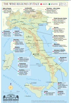 Map Of Italy Wine Regions 11 Piedmont Wine Country Facts