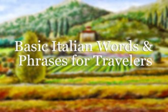 Basic Italian Words & Phrases