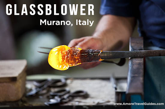 Murano Glassblower Italy