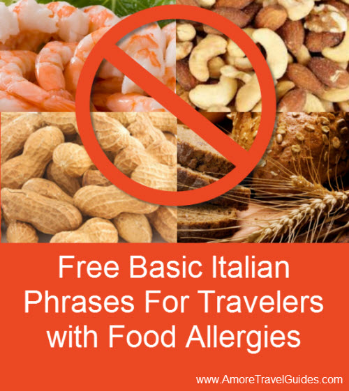 Basic Italian Food Allergy Phrases