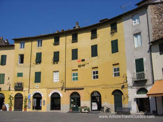 Buildings in Lucca Italy